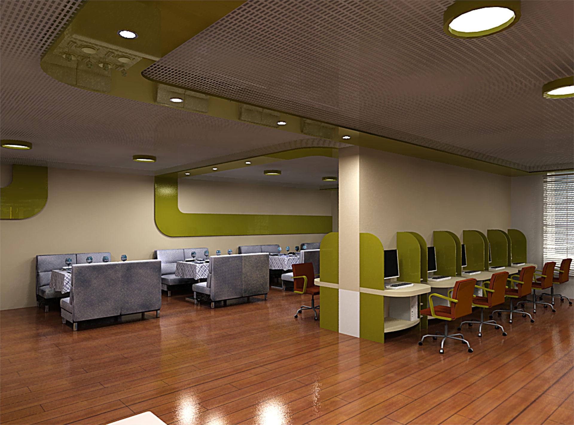 Дизайн интерьеров интернет кафе
